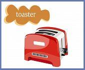 image of bakelite  - red toaster for bread - JPG
