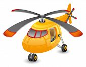 picture of helicopters  - Vector orange helicopter isolated on white background - JPG
