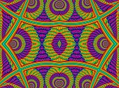 foto of symmetrical  - Multicolored Symmetrical Textured Background with Spirals - JPG