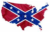 stock photo of flag confederate  - Confederate flag over U - JPG