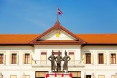 picture of three kings  - Three great kings of Thailand are imortalised in this monument in the heart of Chiang Mai - JPG