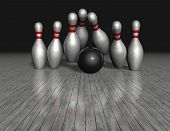 picture of objectives  - objectives concept reaching strategic goal illustration with bowling gamel black background - JPG
