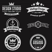 Retro Vintage Insignias or Logotypes set. Vector design elements, business signs, logos, identity, l poster