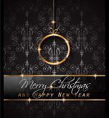 image of dinner invitation  - 2016 Merry Chrstmas and Happy New Year Background for your dinner invitations - JPG