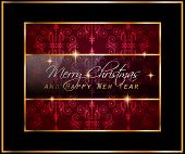stock photo of dinner invitation  - 2016 Merry Chrstmas and Happy New Year Background for your dinner invitations - JPG