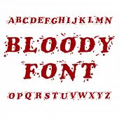 stock photo of bloody  - Bloody Splash Font Set - JPG