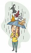 Lloviendo gatos y perros