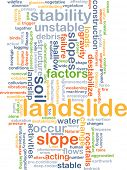 stock photo of landslide  - Background concept wordcloud illustration of landslide - JPG