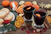 stock photo of christmas spices  - Christmas mulled wine - JPG