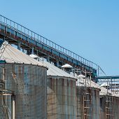 picture of silos  - Storage facility cereals silos and drying towers - JPG