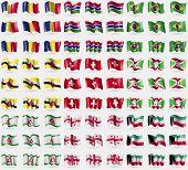 stock photo of kuwait  - Romania Gambia Brazil Brunei Switzerland Burundi Ingushetia Georgia Kuwait - JPG