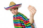 picture of sombrero  - Spanish wearing sombrero in funny concept - JPG