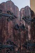 stock photo of door  - wooden door - JPG