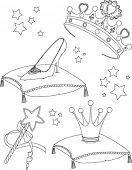 Beautiful princess Collectibles coloring page
