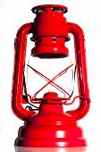 Red storm lamp