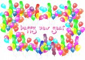 Happy New Year Balloon Party