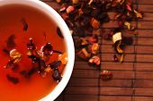 closeup of fruity tea. healthy lifestyle
