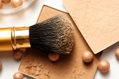 stock photo of face-powder  - Face powder  - JPG
