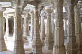 Column Of Marble Of A Jain Temple, Ranakpur, India