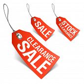 Sale tags. Vector.