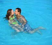 Pool Honeymoon Portrait