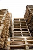 Piles Of Wooden Pallets