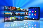 Streaming media on tablet PC