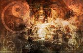 stock photo of mystique  - Asia Abstract Art Buddha as a Background - JPG