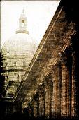 Постер, плакат: Стабильность закона порядка и правосудия абстрактный фон