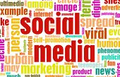 Social Media Concept as a Abstract Background