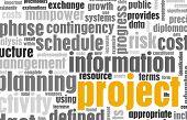 Постер, плакат: Управление проектами и планирования как фон
