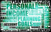 Blue Personal Income Spending Tax List Abstract