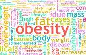 Conceito de obesidade do ser excesso de peso e insalubre