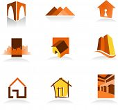 Collection of real estate icons - for more logos of this type CLICK ON MY NAME BELOW TO SEE MY GALLE