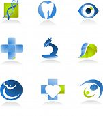 template of medical icons