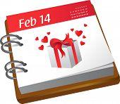 Valentinstag-Kalender
