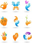 collection of hands icons