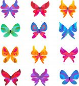 stock photo of corazon  - collection of butterfly icons and symbols - JPG
