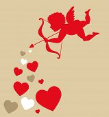 sweet cupid - greetings card for Valentines day