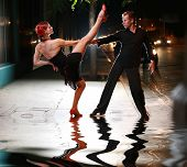 pic of ballroom dancing  - Hot latin dance on a street - JPG