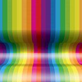 Arco-íris côncava listras