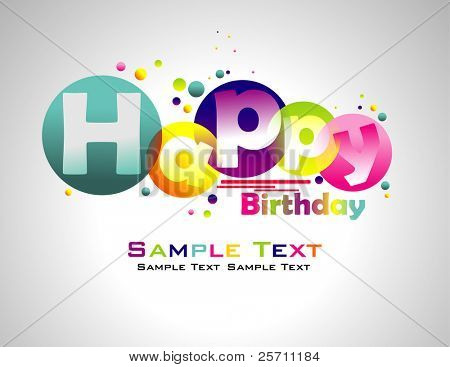 Happy Birthday abstract colorful background