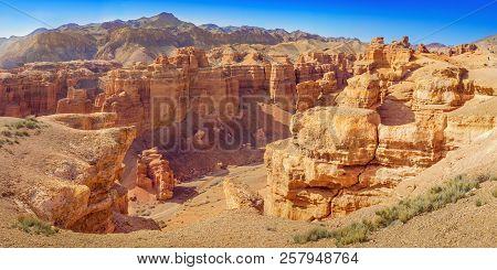 Charyn Canyon In Almaty Region