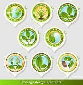 Glossy ecology stickers