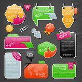 Coleção de elementos do site