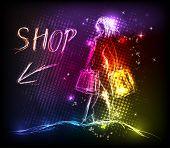 Woman shop light design
