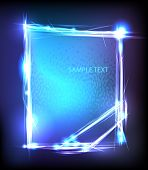 light abstract neon banner