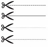 Ucher Coupon Dashed Lines. Set Scissors With Dashed Line. Set Fo Coupon Borders Sign. Scissors Symbo poster
