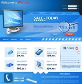 Website template, shop design