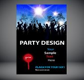 Party poster design with people